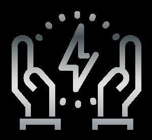 hand bolt icons grey